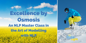 """""""Excellence by Osmosis"""" An NLP Master Class in the Art of Modelling with NLP @ Allen Training Associates Ltd. 
